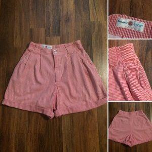 🔴2/$10 5/$20. Vintage Gingham pleated Shorts